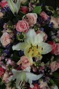 Tiger Lily wedding arrangement